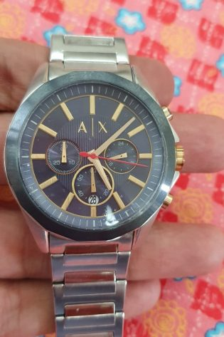 Armani Exchange Analog Blue Dial Watch AX2614