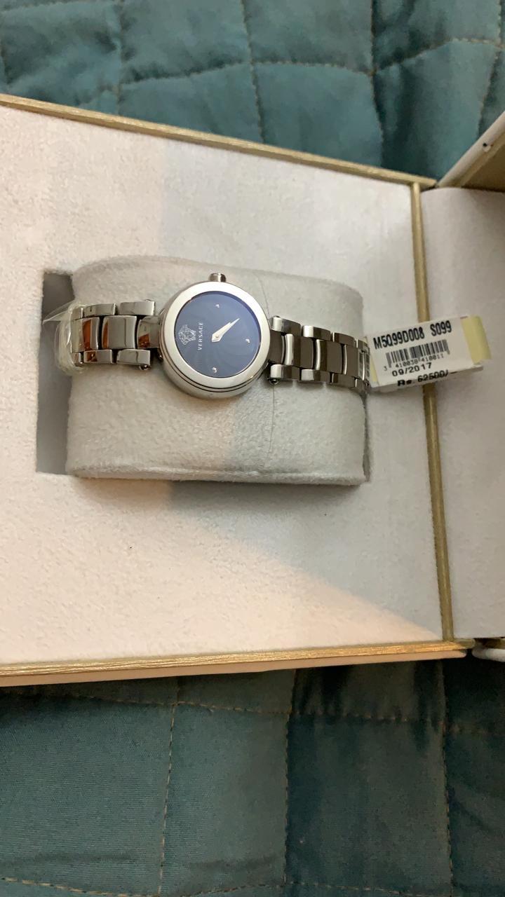Versace Round Black Women's watch