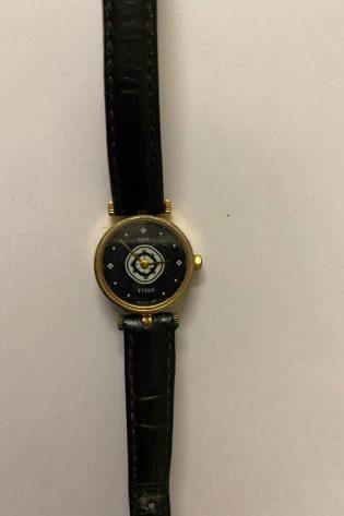Titan Black and Gold Women's watch