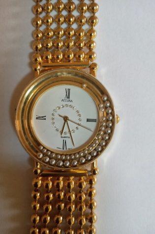 Accura Gold Bracelet Women's Watch