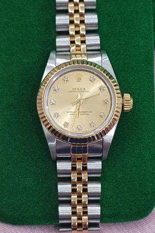 Rolex Oyster Peprtual Ladies Steel & Gold