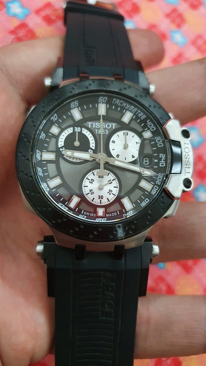 Tissot t Race Black men's used watch